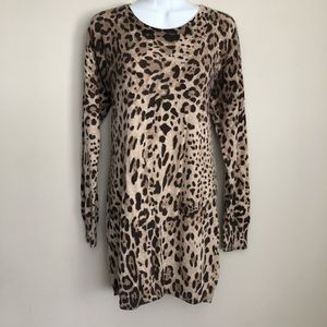 Sweaters - Sisters leopard print tunic sweater